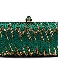 L.west Women Elegant High-grade Luxury Geometric Stick A Drill Evening Bag