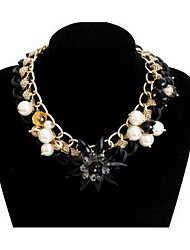 Women's Pendant Necklaces Multi-stone Gem Chrome Flower Style Fashion Euramerican Jewelry For Party Special Occasion Birthday Gift