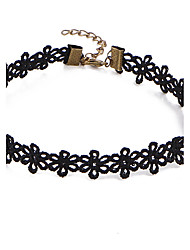 Necklace Europe Flower Collar Fashion Short Black Necklace Choker Necklace