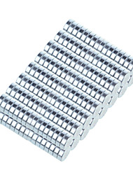 10*3mm Strong Rounded NdFeB Magnets - Silver (100 PCS)