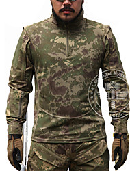 Men's Tops Hunting Leisure Sports Waterproof Breathable Windproof Wearable Spring Summer Fall/Autumn Winter Army Green