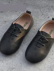 Fille-Décontracté-Blanc Noir Gris foncé-Talon Plat-Flower Girl Chaussures-Ballerines-Polyuréthane