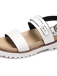 Camel Women's Summer Comfort Light Soles Casual Flat Heel Anti-skidding Sandals Color White/Black