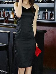 High-end custom temperament was thin halter V-neck lace Dress vacation beach skirt dress