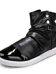 Running Shoes Men Genuine Leather Boots Fashion Snow Boots
