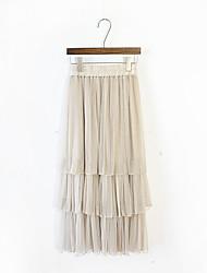 Início da primavera 2017 versão coreana de multi-camada bolo saia plissada gaze tutu saias maré feminina