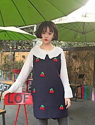 Feminino Malha Íntima Casual VintageSólido Algodão Decote Redondo Sem Manga