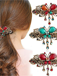 1 Pcs Classical Cross Clip Clip Hairpin Headdress The Butterfly Hairpin Restoring Ancient Ways