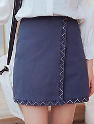 Signe jupe jupes brodées femme mince taille mince une jupe jupe 2