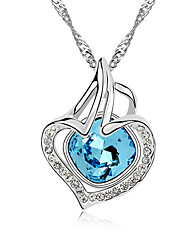 Women's Pendant Necklaces Crystal Chrome Love Heart Euramerican Fashion Personalized Jewelry For Wedding Party Birthday Congratulations