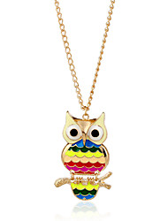 Women's Pendant Necklaces Diamond Alloy Animal Shape Animal Design Euramerican Gold Jewelry Party Casual Christmas Gifts 1pc