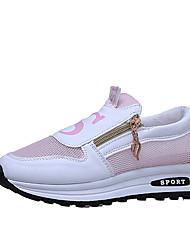 Mulheres sapatos atléticos Primavera verão luz solas pu atlético lace-up