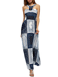 Women's Casual/Daily Work Simple Sheath Lace Dress,Solid Print Strapless Maxi Sleeveless Polyester All Seasons Low Rise Micro-elastic