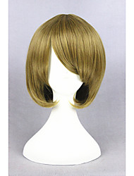 curta amor peruca vivo Koizumi Hanayo loiro 14inch sintética anime cosplay peruca cs-249A