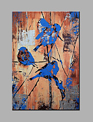 Hand-Painted Abstract Standing In The Bird On The Tree Oil painting Ready To Hang Modern One Panels Canvas Oil Painting For Home Decoration