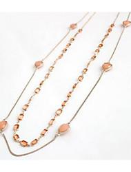 Femme Pendentif de collier Imitation de diamant Mode euroaméricains Simple Style Orange Bijoux Pour Quotidien 1pc