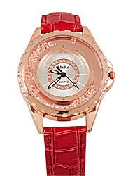 Mulheres Relógio de Moda Chinês Quartzo PU Banda Casual Preta Branco Azul Vermelho Rose Branco Preto Rosa Vermelho Azul