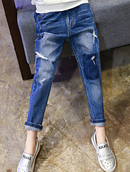 Girls' Casual/Daily Solid Jeans Spring Fall