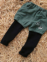 Unisex Casual/Daily Color Block Pants Spring