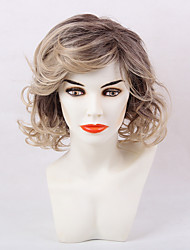 Ethereal Ripe Partial Fringe Medium Long Curly Hair Synthetic Wig