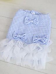 Dog Tuxedo Dress Cotton Dog Suspender Skirt Summer Princess Cute Fashion Birthday Wedding Light Green Light Blue Purple