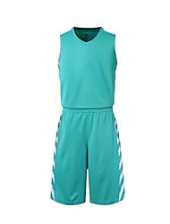 MTIGER SPORTS® Men's Sleeveless Basketball Clothing Sets/Suits Baggy Shorts Breathable Comfortable Blue Blue