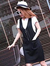 платье 2017 года новая женская корейского платье ремень платье весна платье части короткой юбки