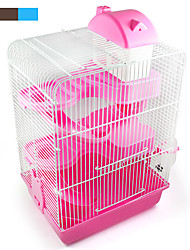 2017 new popular products of high quality plastic color castle three-story building villa hamster pet hamster cage