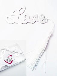 Silver-Metal L-O-V-E Bookmark with Elegant Silk Tassel Party Souvenir