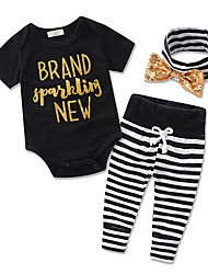Baby Jumpsuit T-shirt Stripe Pants Kids Leisure Time Clothing Girl Rompers Cotton Clothes Set