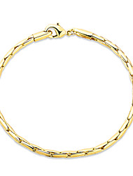 Consise 18K Yellow Gold Plated Mother's Day Gift Crystal Bracelets Womens Elegant Jewelry Lucky Female Bracelet