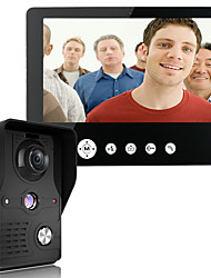 MOUNTAINONE 9 Inch Video Door Phone Doorbell Intercom Kit 1-camera 1-monitor Night Vision