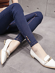 Sign 17 Korean version of spring diamond pattern ultra elastic jeans big yards was thin outer wear elastic waist leggings female
