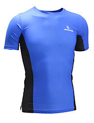 Malciklo Cycling Jersey Unisex Short Sleeves Bike T-shirt Sweatshirt Tops Quick Dry Anatomic Design High Breathability (>15,001g)