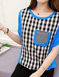 Qing modèle de paiement réel gros geste mm été femmes lâches était mince t-shirt chemise femme été