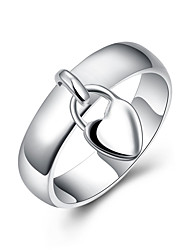 R133 Silver Plated Rings for Women Wedding Bridal Jewelry  Heart Lock Ring Wedding Rings Anelli Donna