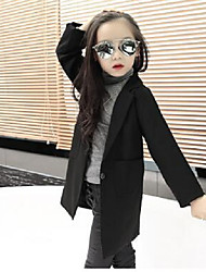 Girls' Casual/Daily Formal Solid Suit & Blazer,Cotton Spring Fall