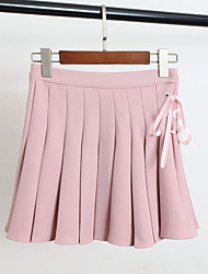 2017 Primavera moda strap design perspectiva calças plissadas corpo alinhado saias saia feminino sinal