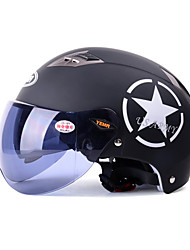 casco de motocicleta yema 329 verano abs medio casco anti-ultravioleta de 54-61cm con lente corta del té negro