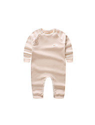 Une-Pièce bébé Couleur Pleine Coton Eté