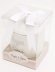 Sugar Spice and Everything Nice Ceramic Sugar Bowl Favor 8.4 x 8.4 x 10.5cm/box Beter Gifts® Wedding Favours