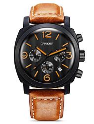 SINOBI Masculino Relógio Esportivo Relógio de Moda Relógio de Pulso QuartzoCalendário Impermeável Cronômetro Noctilucente Resistente ao