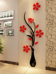 Navidad Romance Florales Pegatinas de pared Calcomanías 3D para Pared Calcomanías Decorativas de Pared,Vinilo Material Decoración hogareña