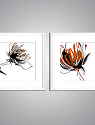 Framed Art Print Abstract Floral/Botanical Modern,Two Panels Canvas Square Print Wall Decor For Home Decoration