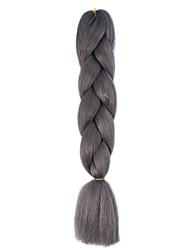 1 Pack Dark Granny Grey Jumbo Braids Hair Extensions Kanekalon Hair Braids Crochet 24inch Fiber 100g