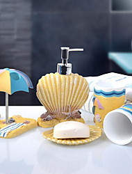 Bathroom Accessory SetResin /Mediterranean