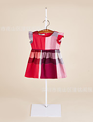 Girl's Casual/Daily Solid Dress,Cotton Winter Short Sleeve