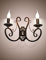 Nuevo retro ático estilo retro lámpara de pared lámpara de dormitorio lámpara de pared lámpara de vela