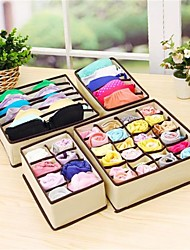 4Pcs  Home Storage Box Bins Underwear Organizer Box Bra Necktie Socks Storage Organizer