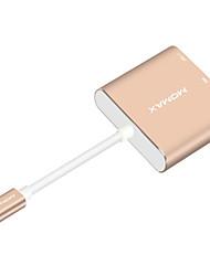 USB 3.1 Tipo C Adaptador, USB 3.1 Tipo C to HDMI 2.0 USB 3.0 USB 3.1 Tipo C Adaptador Macho-Fêmea 1080P 0,18 M (0.6Ft)
